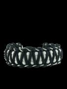Schwarz-weißes Paracord Armband Zebra