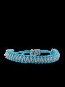Modro-šedý Microcord náramek King Cobra