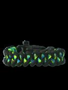 Zwart & groen Paracord-armband Haai met vuurstarter, kompas en fluitje