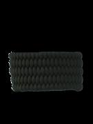 Brățară paracord negru Shield cu amnar și fluier