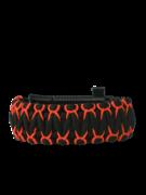 Schwarzes und oranges Paracord-Armband Krieger mit Messer, Anzünder, Kompass und Pfeife