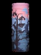 Wesoły komin Zachód słońca w dżungli