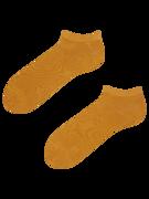 Bambusové členkové ponožky Horčicovo žlté