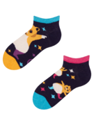 Veselé dětské kotníkové ponožky Párty křečci