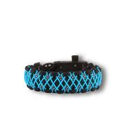 Bracelet en paracorde noir et bleu Galaxy avec allume-feu, boussole et sifflet