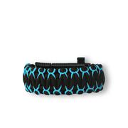 Bracelet en paracorde noir et bleu Warrior avec couteau, allume-feu, boussole et sifflet
