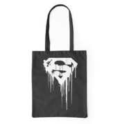 Platnena vrečka Superman™ Black - White Logo