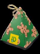 Pyramidová dárková krabička s vůní Kouzlo Vánoc