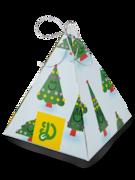 Pyramidová dárková krabička s vůní Vánoční stromeček