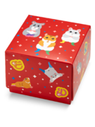 Kvadratna darilna škatla Plešoči hrčki