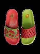 Veselé dětské pantofle Červený meloun