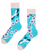 Chaussettes rigolotes Sakura et Héron