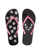 Flip Flops with Decoration Charm Kitty