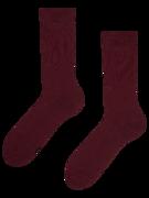 Čarape od recikliranog pamuka boje crnog vina