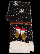 Lustiger gestrickter Schal für Männer Bier vom Fass