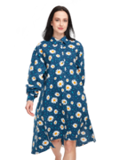 Wesoła sukienka koszulowa Kwitnące stokrotki