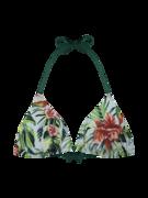 Wesoły trójkątny top od bikini Tropikalne kwiaty