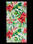 Wesoły ręcznik plażowy tropikalne kwiaty