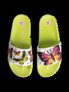 Veselé šľapky Farebné motýle