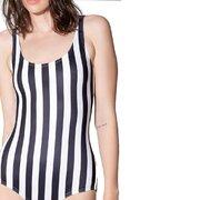 Damen Badeanzug gestreift