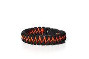 Paramicord survival náramek Ryba X černo oranžový