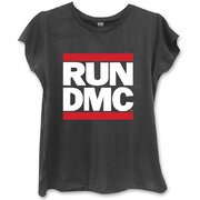 Damen T-Shirt Schwarz  Run DMC Logo