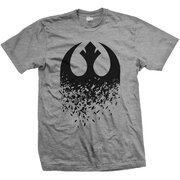 T-Shirt Star Wars Episode VIII Rebel Logo Splintered