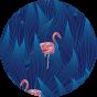 Men's Swim Shorts Night Flamingo