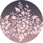 Wesoły stanik sportowy kwiaty ombre