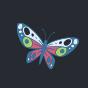 Vesele najlonske hulahopke Leptiri i sovice