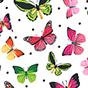 Women's One-piece Swimsuit Colourful Butterflies