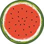 Veselý kulatý plážový ručník Svěží meloun