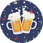 Lustige Badeshorts für Männer Bier und Boot