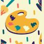 Veselé ponožky Paleta farieb