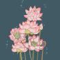 Lustige Training-Leggings Rosa Lotus