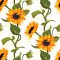 Triangle Bikini Top Sunny Sunflower