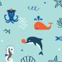 Wesołe chłopięce spodenki kąpielowe Morscy przyjaciele