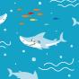 Živahne fantovske plavalne hlače Beli morski pes