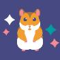 Vrolijke herentrunks Hamster