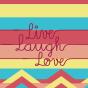 Vesele čarape Živi, voli i smij se