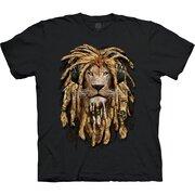 Čierne tričko Rasta lev