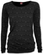 Dámske tričko s dlhým rukávom Temná elegancia