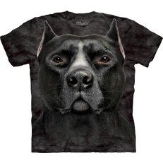Black Pitbull Dog Head Adult