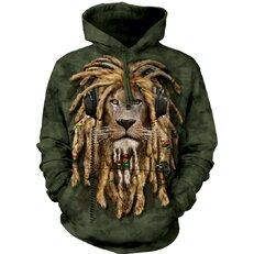 Kapucnis pulóver Raszta oroszlán