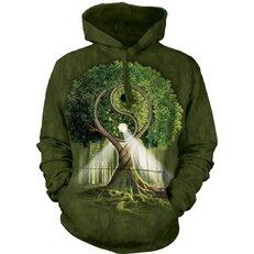 Sweatshirt mit Kapuze Yin Yang Baum