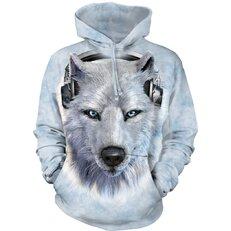 Sweatshirt mit Kapuze DJ Weißer Wolf