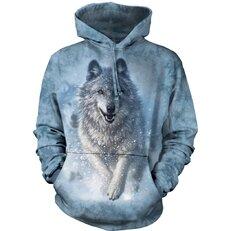 Sweatshirt mit Kapuze Weißer Wolf