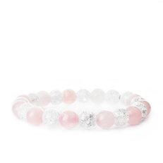 Armband Rosenquarz, Geborstener Kristall - Steine der Liebe und Reinheit