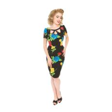 Rochie retro tip creion cu mânecă Culori jucăușe