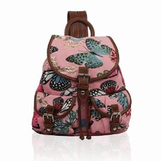 Rucsac tip sac Pink butterfly